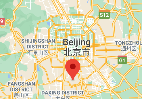 Map showing location of Nanyuan Airport in south Beijing